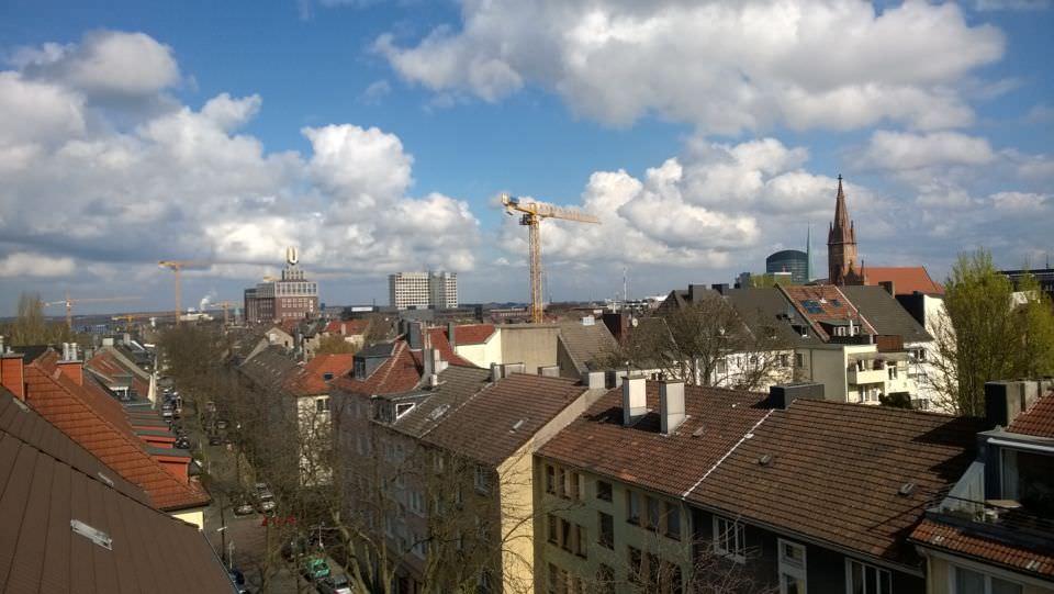 Blick über die Dächer von Dortmund