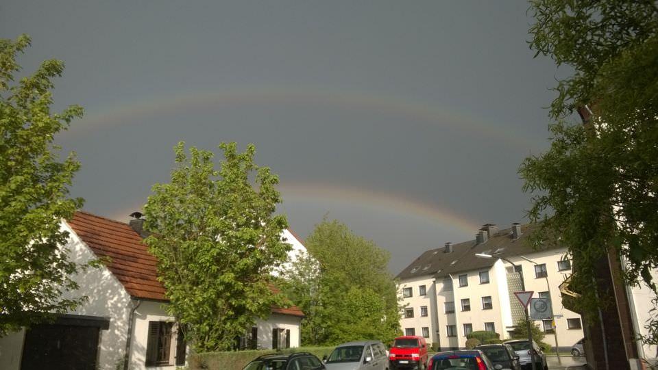 Doppelter Regenbogen über Dortmund