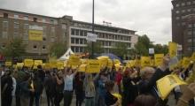 Anti-Nazi-Demo am Rathaus Dortmund - Flashmob