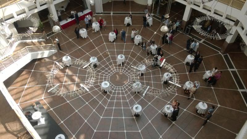 Im Rathaus ein Blick aus der vierten Ebene