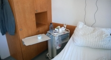 Einzelzimmer im Krankenhaus