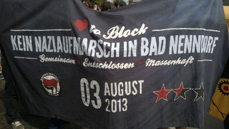 Die Initiative aus Bad Nenndorf mit Transpi