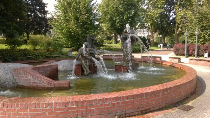 Ruheinsel in der City - Brunnen im Stadtgarten