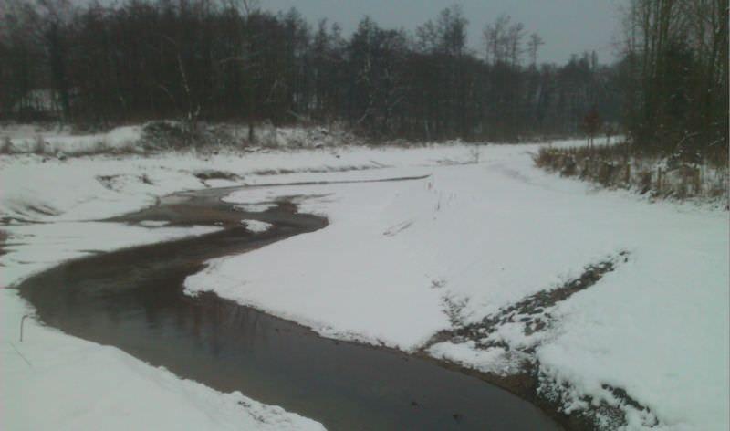 Im Schnee - der spätere Verlauf erkennbar