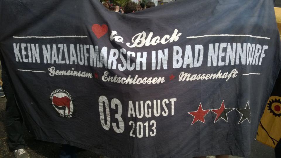 Bad Nenndorf - Transparent zur Anti-Nazi-Demo