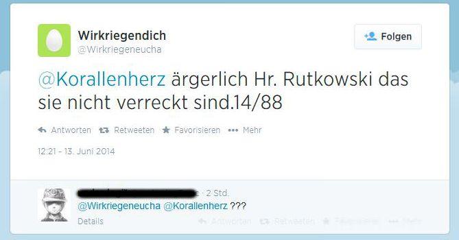 Tweet mit Todeswunsch - Juni 2014
