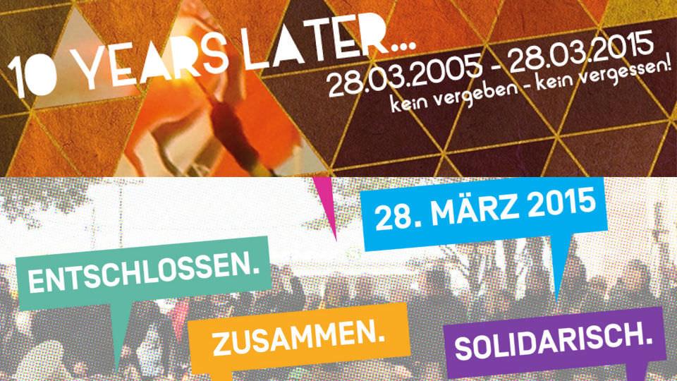 Banner der beiden Aktionen am 28. März in Dortmund