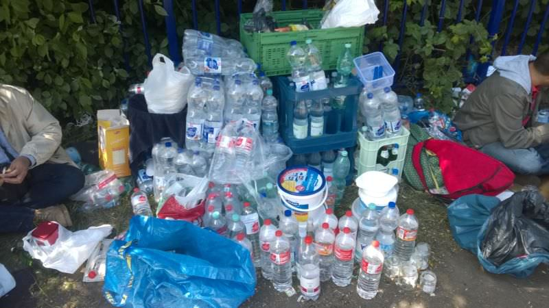 Wasserversorgungsstelle im Camp