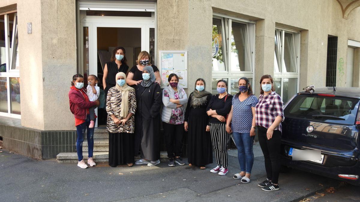 Gruppenbild der Gruppe, die die Hilfsgüter gesammelt hat.